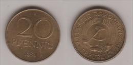 DDR , 20 Pfennig , Jäger 1511 B , 1984 A - [ 6] 1949-1990 : GDR - German Dem. Rep.