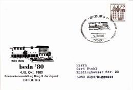 PU 111/25  Beda`80 - Briefmarkenausstellung Rang II Der Jugend, Bitburg 1 - Privatumschläge - Gebraucht