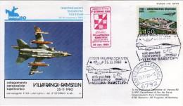 Italia 1980 Villafranca Di Verona Aeronautica Militare Volo Verona Ramstein VG - Airplanes