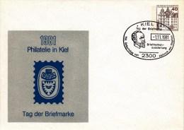 PU 111/56  1981 Philatelie In Kiel - Tag Der Briefmarke, Kiel 1 - Privatpostkarten - Gebraucht