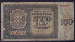 CROATIA NDH  - 100 Kuna 1941 Pick 2 - Croatie