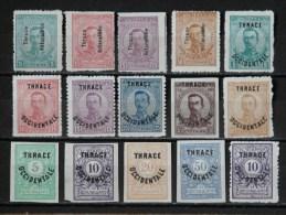 GRECE -THRACE 1920 N° 47/56  * + Taxe N° 4/8 * (voir Scan) - Thrace