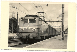 91   ANGERVILLE  LE  12 SEPTEMBRE 1954  LE  RAPIDE 1007 PARIS  TOULOUSE  TRAVERSANT LA  GARE - Angerville