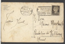"7930-TARGHETTA-""ROMA PRATI-PROTEGGETE I COLOMBI VIAGGIATORI-24-VII-40 XVIII"" - 1900-44 Vittorio Emanuele III"