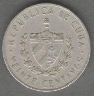 CUBA 20 CENTAVOS 1962 - Cuba