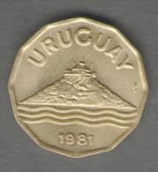 URUGUAY  20 CENTESIMOS 1981 - Uruguay