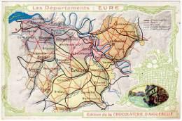 Les Départements : Eure (Bernay, Evreux, Breteuil, ...) (édition Chocolaterie D'Aiguebelle) - France