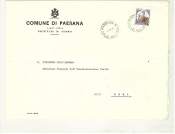 CAP 12034 - PAESANA - CN - R - ANNO 1981 - PIEMONTE - F.TO 18 X 24  - STORIA DEI COMUNI D´ITALIA - Affrancature Meccaniche Rosse (EMA)