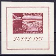 Jugoslawien 1951 Bloc Michel # 5 ** Postfrisch - Blocs-feuillets