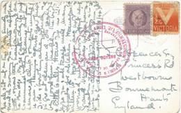 Cuba 1944 Cienfuegos Censor Cuba British P259 Censored Viewcard. Rare! - Cuba