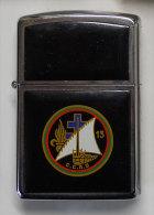 insignes L�gion Etrang�re  Briquet Zippo 13 DBLE CCAS avec insigne finement grav� souvenir d'un ancien Adjudant-Chef