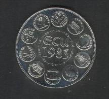 H. Superbe Pièce En ECU, De 1983 !! Diametre 41 Mm, Poids 30 Grammes , TTB, Voir Descriptif Complet. - France