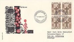 ROAD SAFETY, TRAFFIC SIGNS, COVER FDC, 1970, DENMARK - Accidents & Sécurité Routière