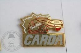 CARDA Car - Coca Cola Advertising White Colour Pin Badge #PLS - Coca-Cola