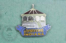 Chesterton, Indiana  - Pin Badge #PLS - Ciudades