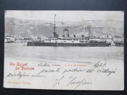 AK SPLIT SPALATO Schiff S.M.S. Budapest Ca.1900 ///  U4831 - Croatie