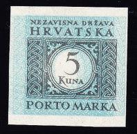 Kroatien Portomarken Mi.# P14 U DD ** Mit Kurzbefund (Abart) - Croatie