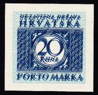 Kroatien Portomarken Mi.# P16 U DD ** Mit Kurzbefund (Abart) - Croatie