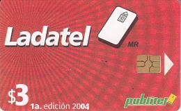 EL SALVADOR - Ladatel 1a Edicion 2004, Chip GEM3.3, Used - El Salvador