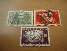 Schweiz:  3 Werte Frieden 1919 - Svizzera