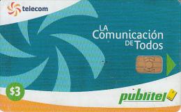 EL SALVADOR - Telecom Logo(blue), Chip SC9, Used - El Salvador