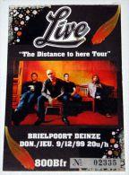 LIVE billet ticket concert BELGIUM 09/12/1999 * EX !