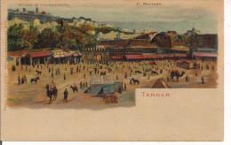 MAROCCO, TANGER, EL MERCADO, CARTE POSTALE U.P.U., COLORI  N/V , FORMATO  9 X 14 - Tanger