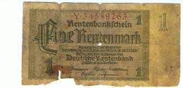 "1  RentenMark  "" ALLEMAGNE ""   1937 Usagé - [ 4] 1933-1945: Derde Rijk"