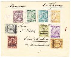 Paraguay R-Brief 23.10.1908 Asuncion Nach Charlottenburg AK-Stempel - Paraguay