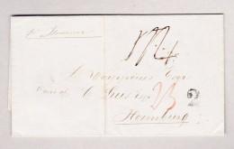 Venezuela Brief Ohne Marke Von Bolivar 22.8.1857 Nach Hamburg - Schiffspost - Venezuela