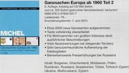 Ost Europa Ganzsachen Ab 1960 MICHEL Katalog 2013 Neu 78€ Mit CD+Neuheiten BG GR Moldawien PL RO RU USSR UA TK BR Zypern - Interi Postali