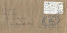 Mauritius Maurice 2012 Quatre Bornes SUB (counter) Post Office Meter Franking Postage Paid EMA Cover - Mauritius (1968-...)