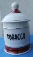 POT à TABAC En Porcelaine, Estampillé J. GUET ALBI - Snuffboxes