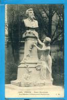 CP, 75, PARIS, Parc Monceau - La Statue D'Edouard Pailleron, Voyagé En 1913, RARE - Statues