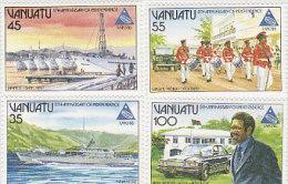 Vanuatu 1985 National Independence 5th Anniversary 397-400 MNH - Vanuatu (1980-...)