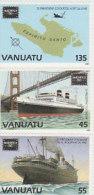 Vanuatu 1986 Ameripex 419-421MNH - Vanuatu (1980-...)