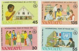 Vanuatu 1986 International Year Of Peace 430-433 MNH - Vanuatu (1980-...)