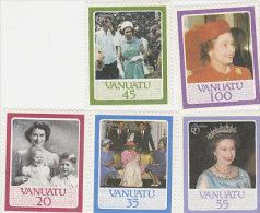 Vanuatu 1986 Queen Elizabeth II 60th Birthday 414-418 MNH - Vanuatu (1980-...)