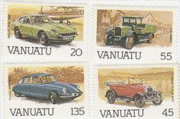 Vanuatu 1987 Automotives 434-437 MNH - Vanuatu (1980-...)