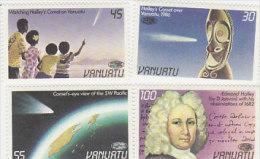 Vanuatu 1986 Halley's Comet 422-425 MNH - Vanuatu (1980-...)