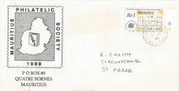Mauritius Maurice 1999 Coromandel Chateau Du Reduit Architectural Drawing Domestic Cover - Mauritius (1968-...)