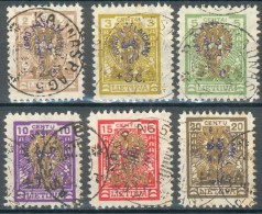 Litauen, MiNr. 224-229o, feinst/pracht