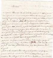 Lettre De Bruxelles Pour Gand - 1796 - Avec P94P Bruxelles - Timbres