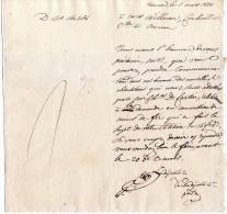 Lettre De Namur - 1830 Pour Namur - Timbres