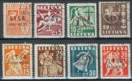 Litauen-UDSSR, MiNr.449/456 o, 451*, feinst