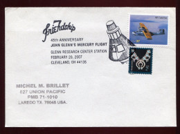 USA, 2007 , SPACE, MERCURY, JOHN GLENN - FDC & Commemoratives