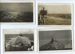 LOT 10 PHOTOS BATEAUX - WW2 - FORCES FRANCAISES NAVALES LIBRES - MARINE NATIONALE