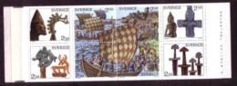 VIKINGS WIKINGER HISTORY SWEDEN SUEDE SCHWEDEN 1990 BOOKLET MI MH 149 1592 - 1599 SLANIA War Ship  Boat - Militaria