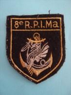 Insigne en toile du 8� RPIMA parachutiste troupes de Marine