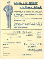 PUBLICITE .... HENRI LABIGNE .... ST AUBIN LES ELBEUF .... CAMPAGNE 1939 ... ACHETER C EST PARTICIPER A LA DEFENSE - Publicité